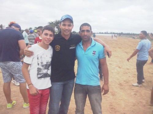 Daniel (filho do organizador do GP) com Carlos Ney - Haras Santa Fé e Clodoaldo - proprietário do Vencedor