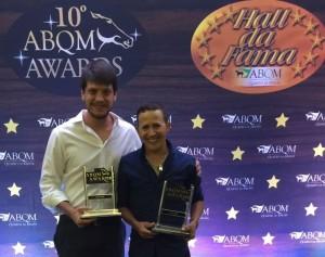 Prêmio de melhor criador e melhor treinador para Haras Vista Verde e Adilson Macedo no ABQM Awards