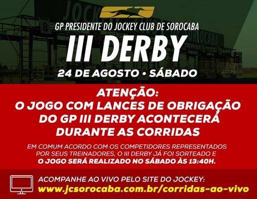 anuncio jogo iiii derby